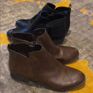 Two pair of booties